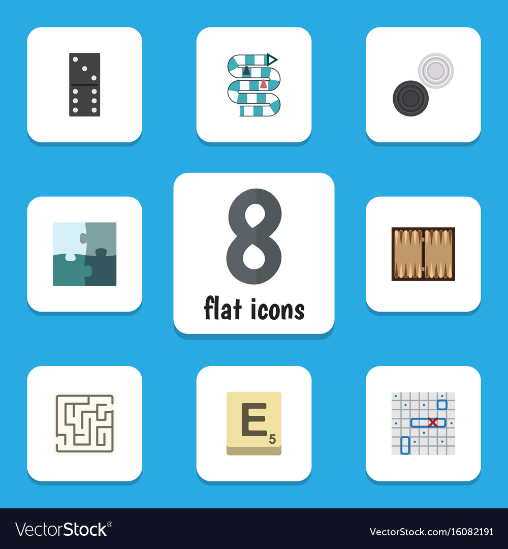 Flat icon games set of dice bones game vector image