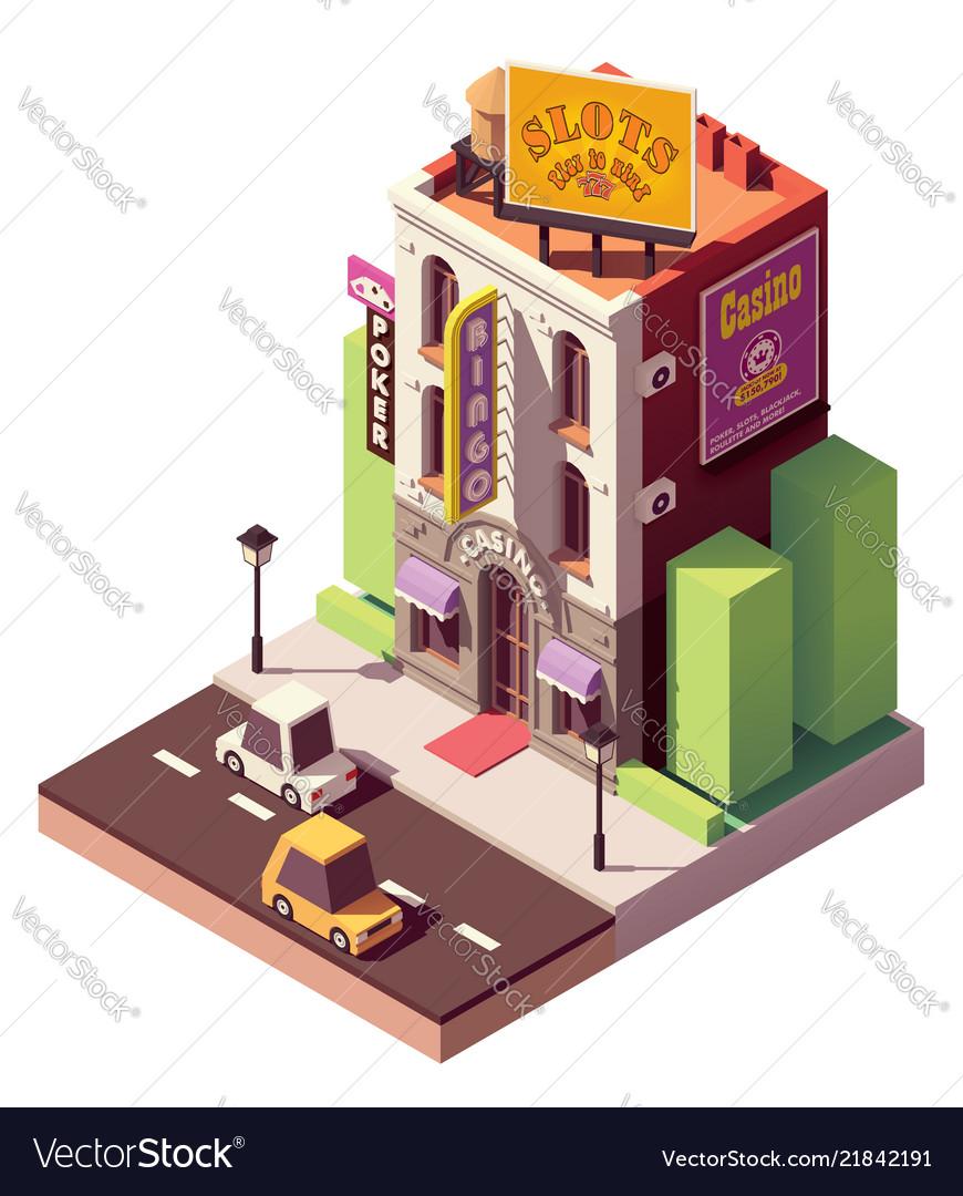 Isometric casino building