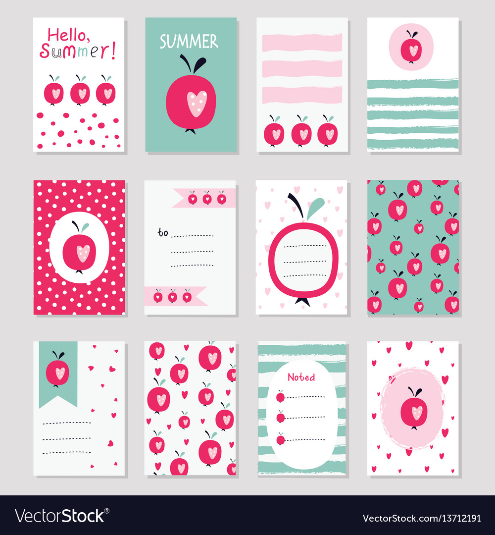Scrapbook sof greeting cards vector image