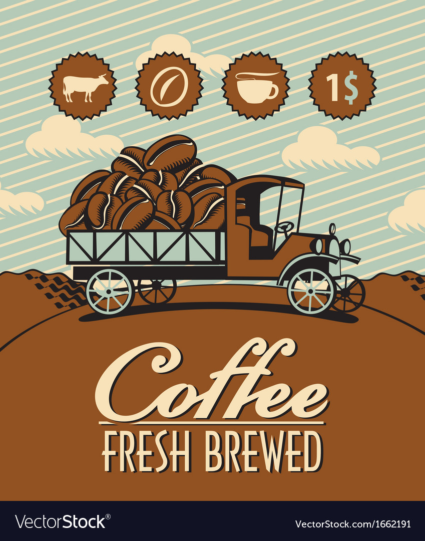 Truck with coffee