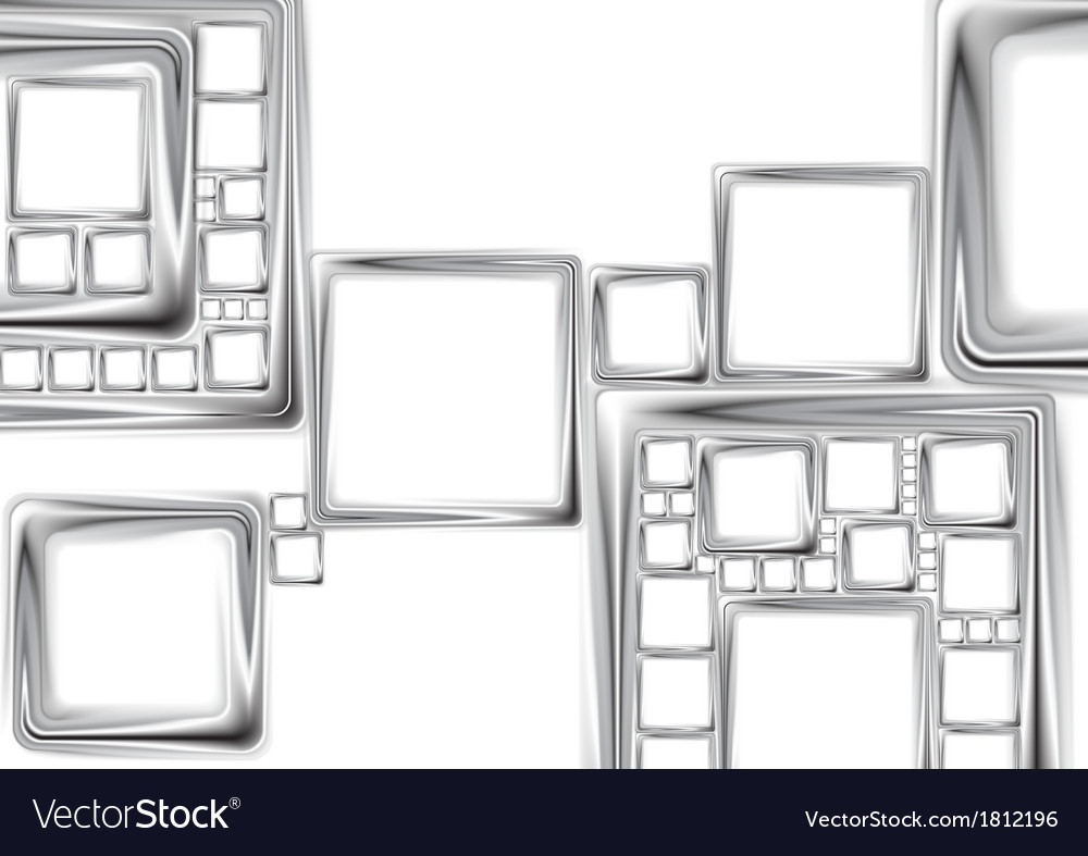Abstract metallic squares tech design vector image