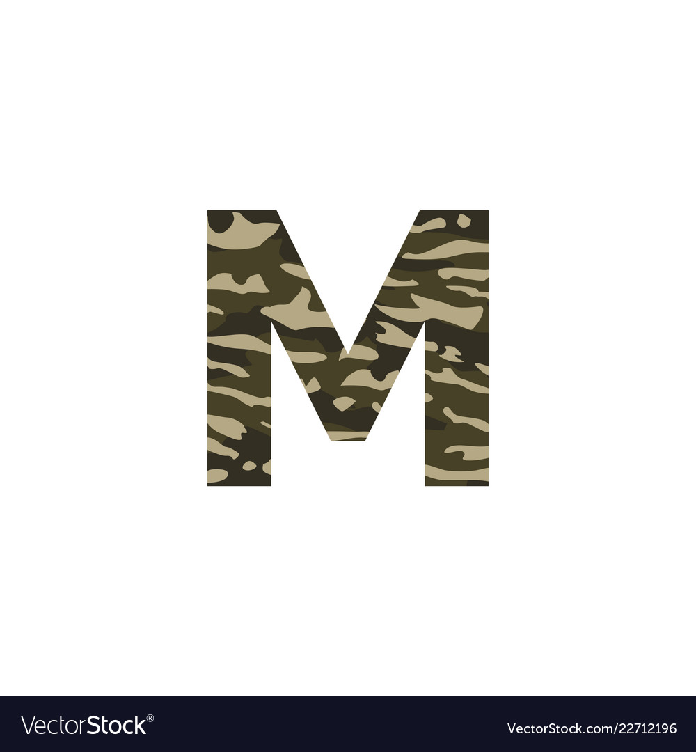 Camouflage logo letter m