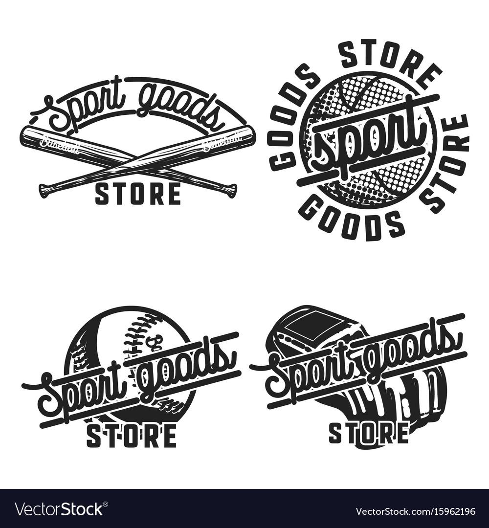 Color vintage sport goods emblems