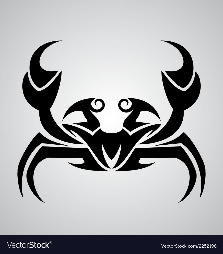 Crab Tattoo Design vector image