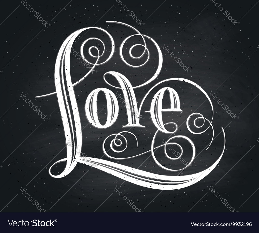 Love Hand lettering Handmade calligraphy