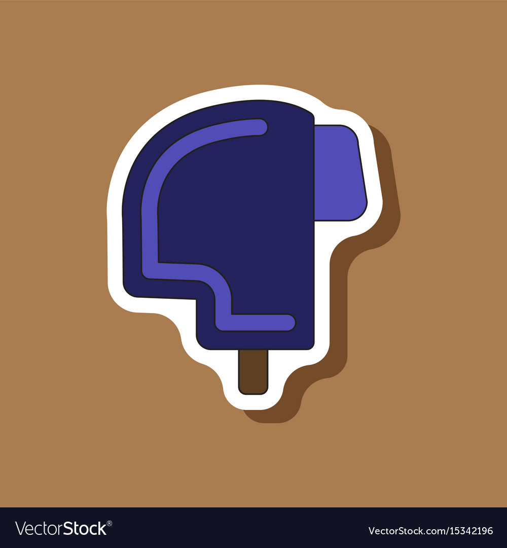 Paper sticker on stylish background ski helmet