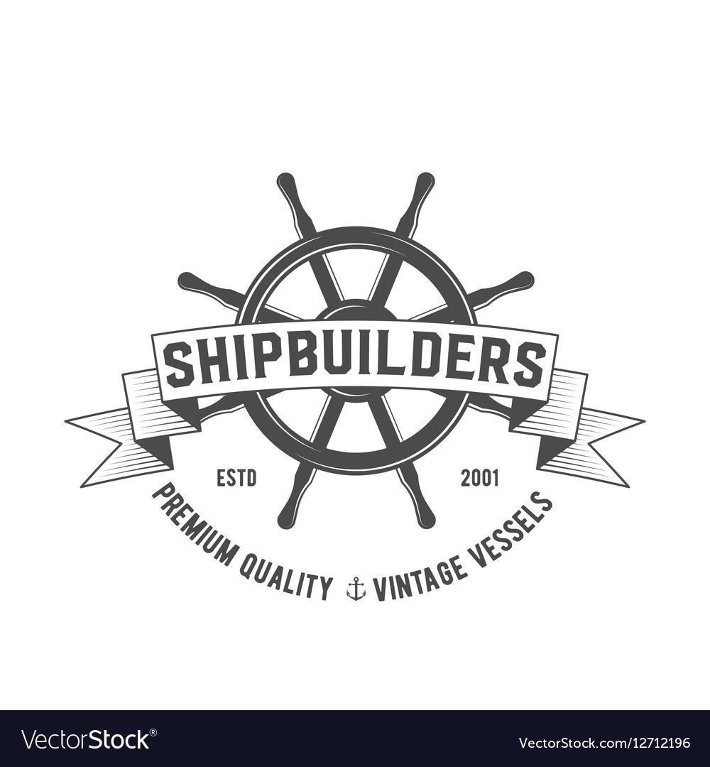 Yacht club badge logo label