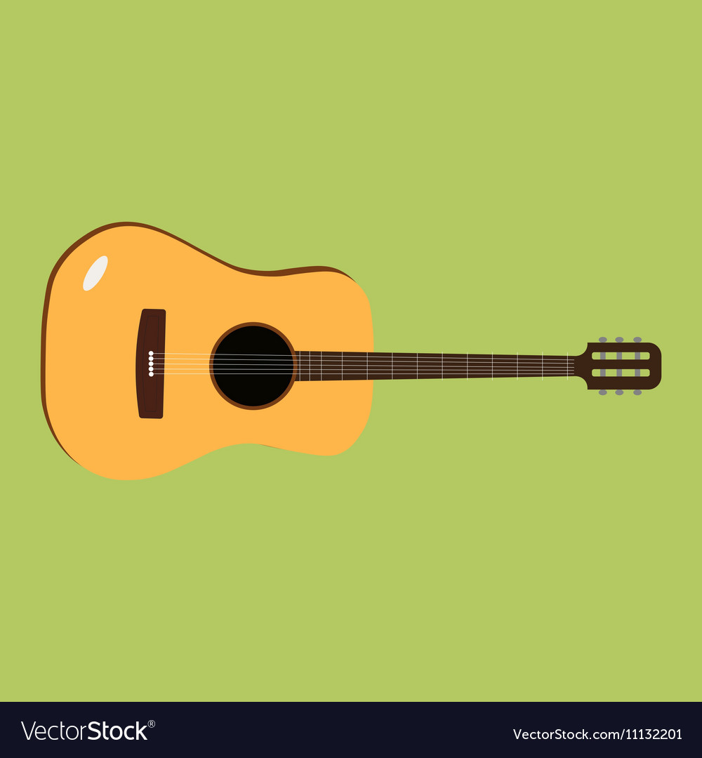 Acoustic guitar icon of the