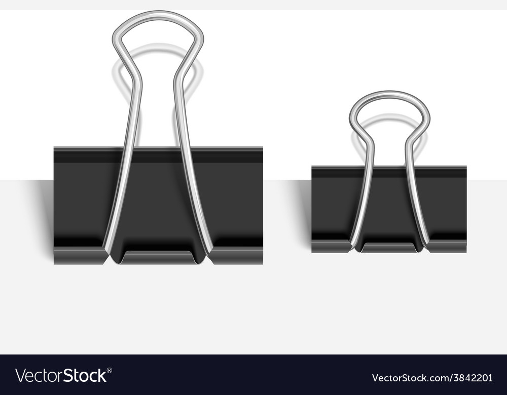 black paper clip royalty free vector image vectorstock rh vectorstock com paper clip vector free paper clip vector icon