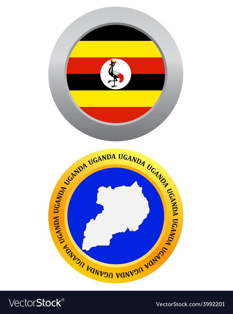 Button as a symbol map UGANDA vector image