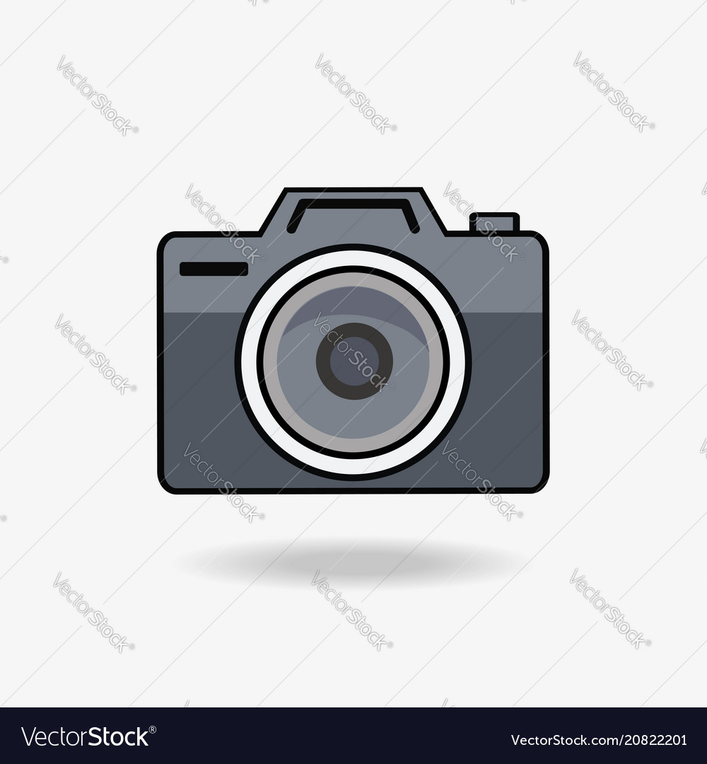 Camera flat style icon vector image
