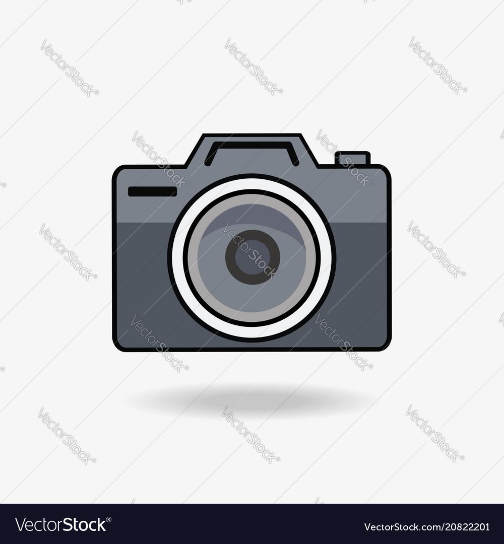 Camera flat style icon