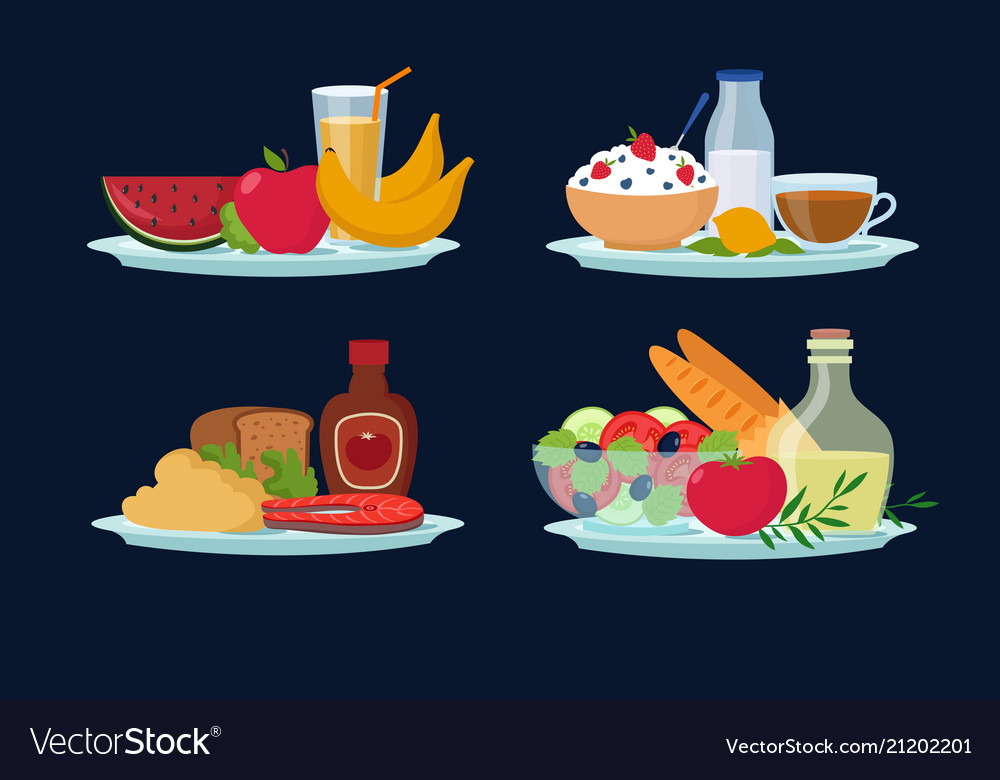 Daily diet meals healthy food for breakfast