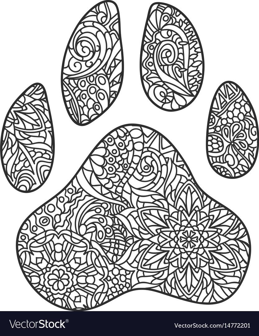 Dog Paw Print Zentagle