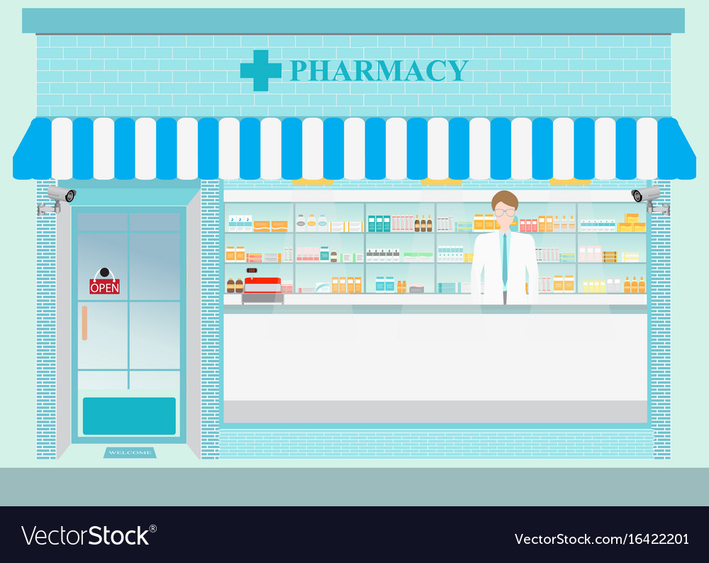 Drug store2 vector image