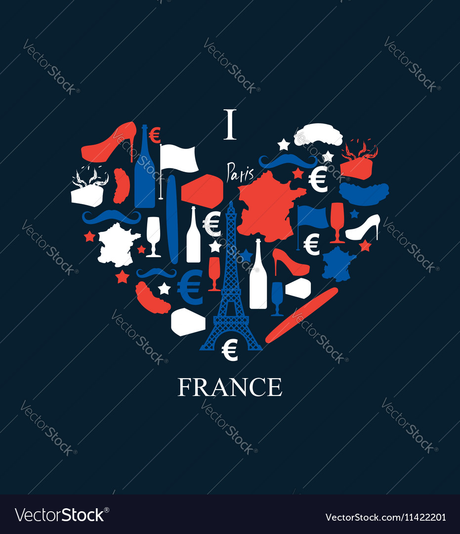 I love France Traditional French national set of