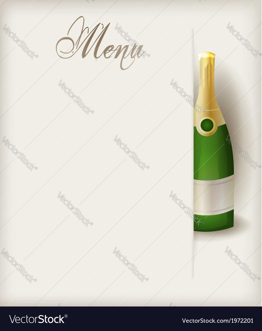 Menu vertical champagne