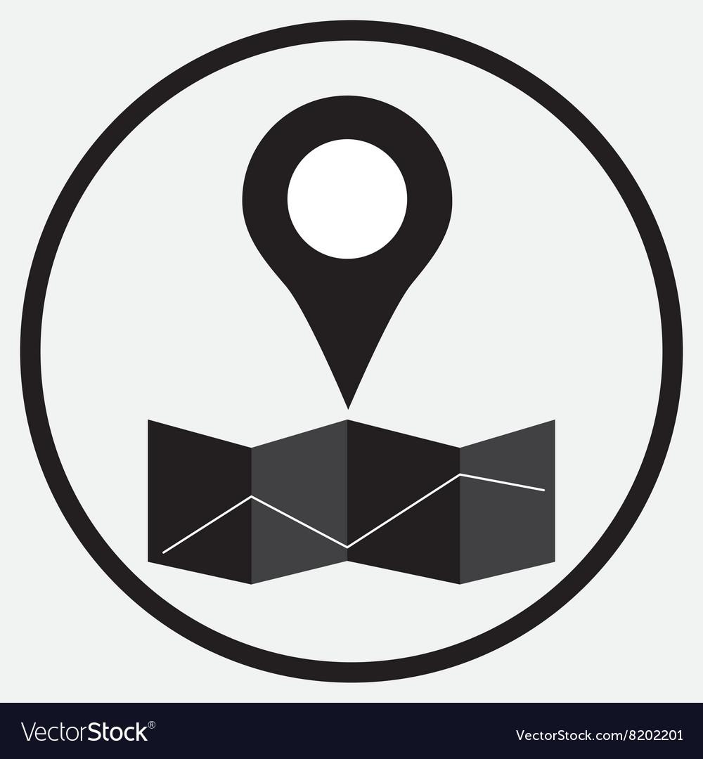 Pin location map monochrome