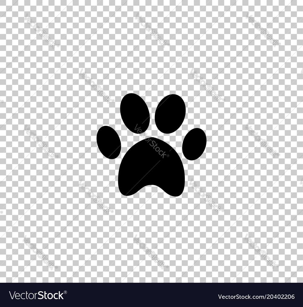 Black animal pawprint icon isolated