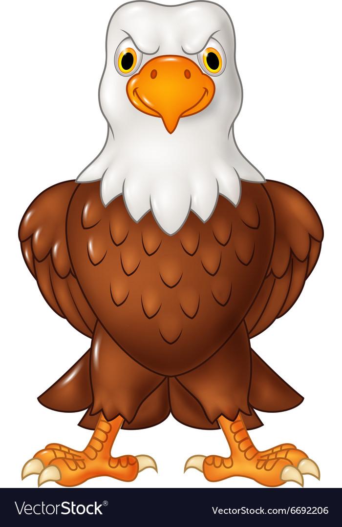 cartoon bald eagle posing isolated royalty free vector image  vectorstock