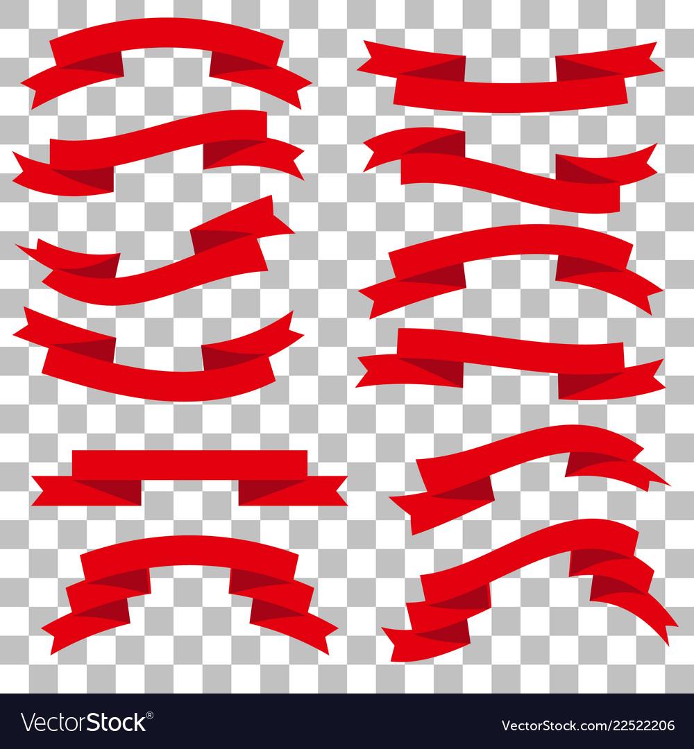 Ribbons set icons