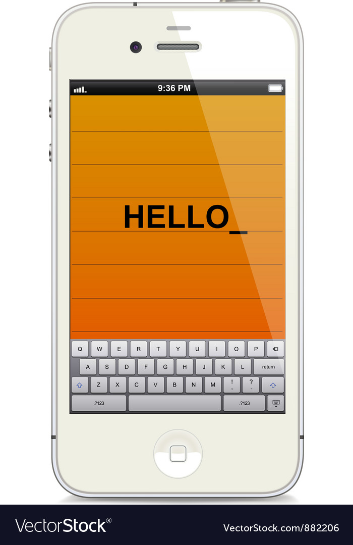 Smartphone with touch keyboard