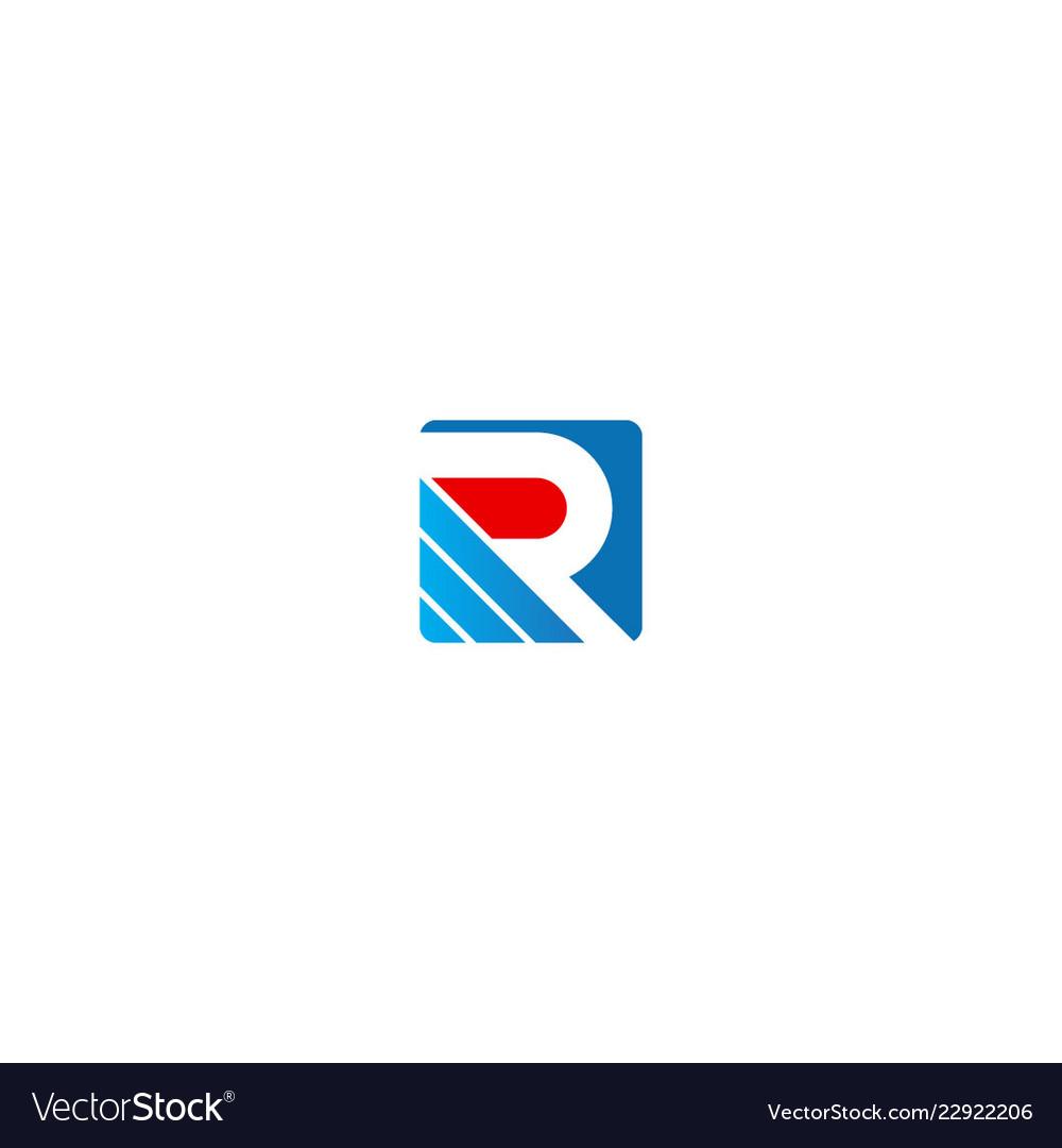 Square r initial business logo