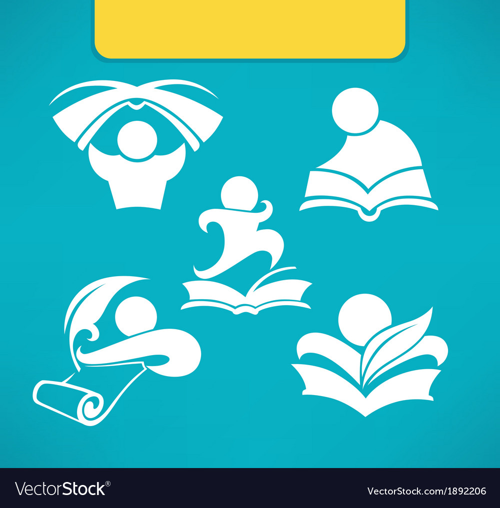 Studing symbols vector image