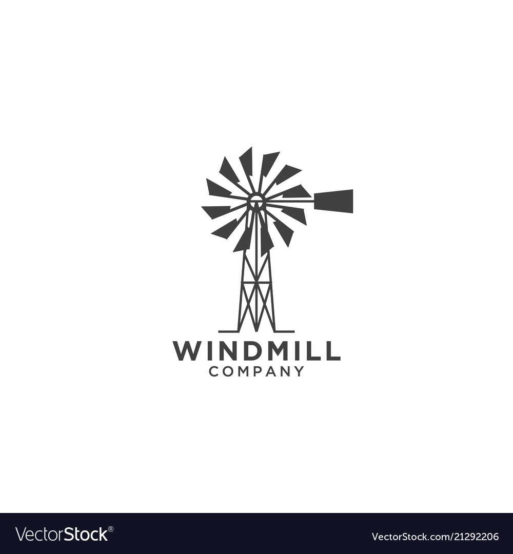 windmill logo design template royalty free vector image
