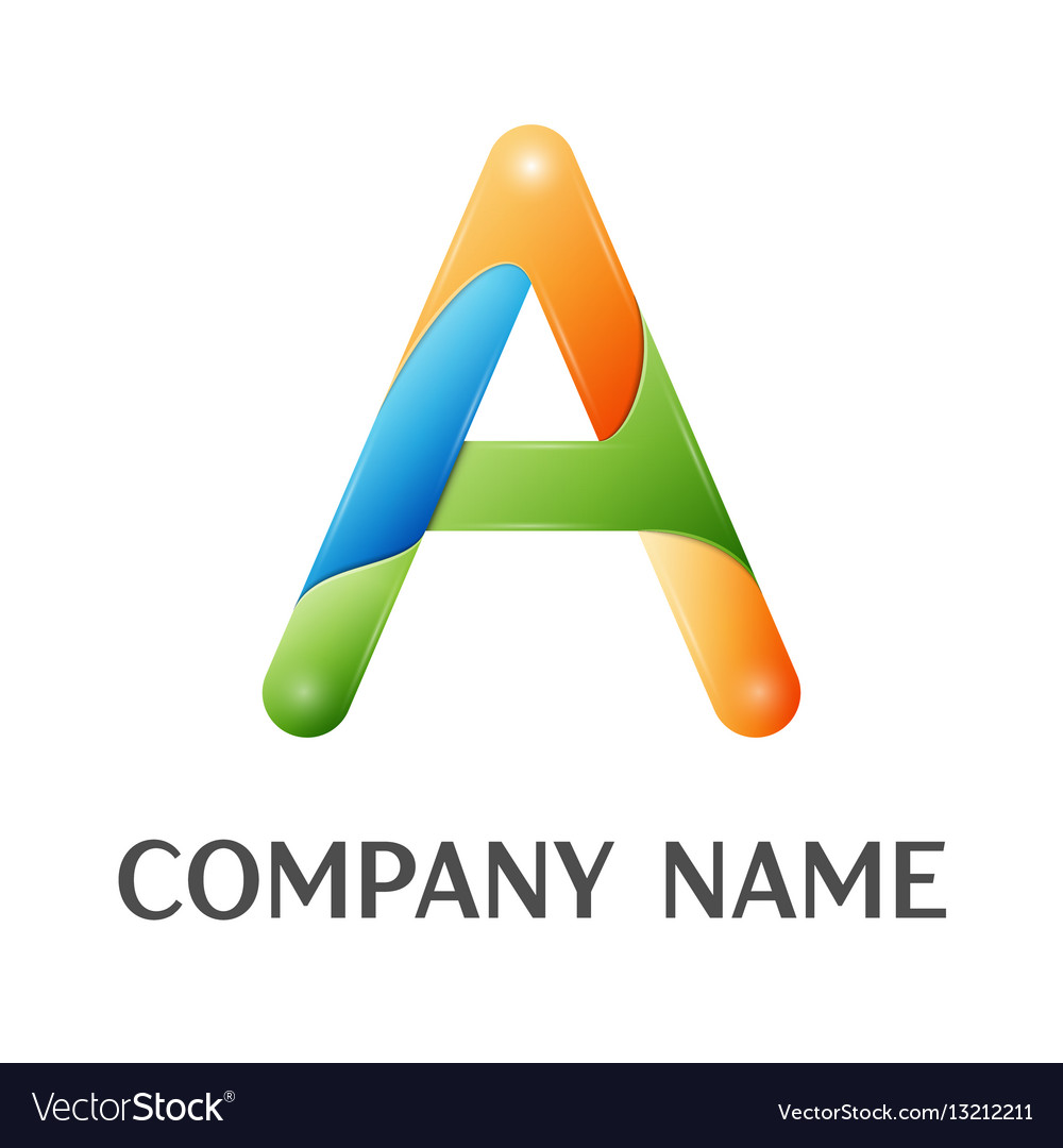 A letter colorful logo