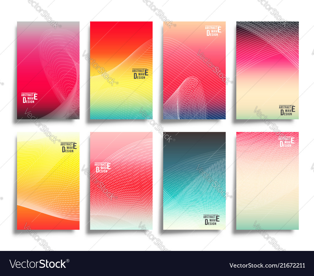Abstract line waves with colorful gradient
