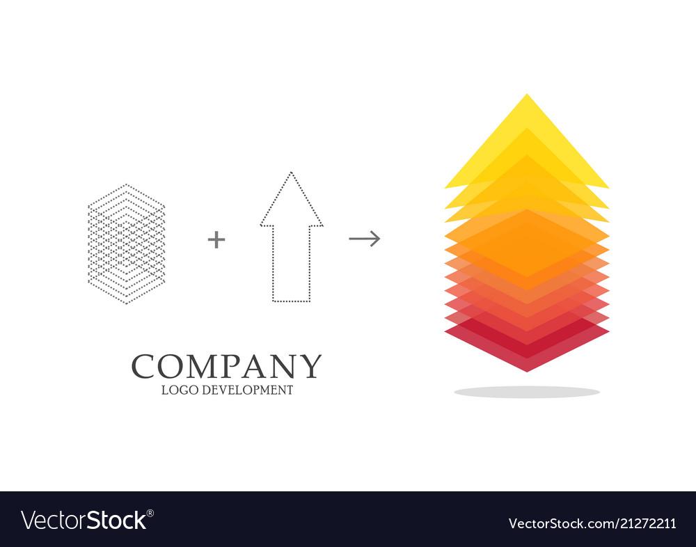 Abstract logo development design