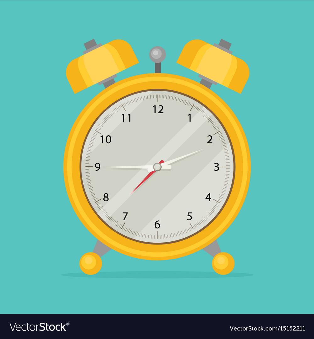 Alarm clock icon flat design style