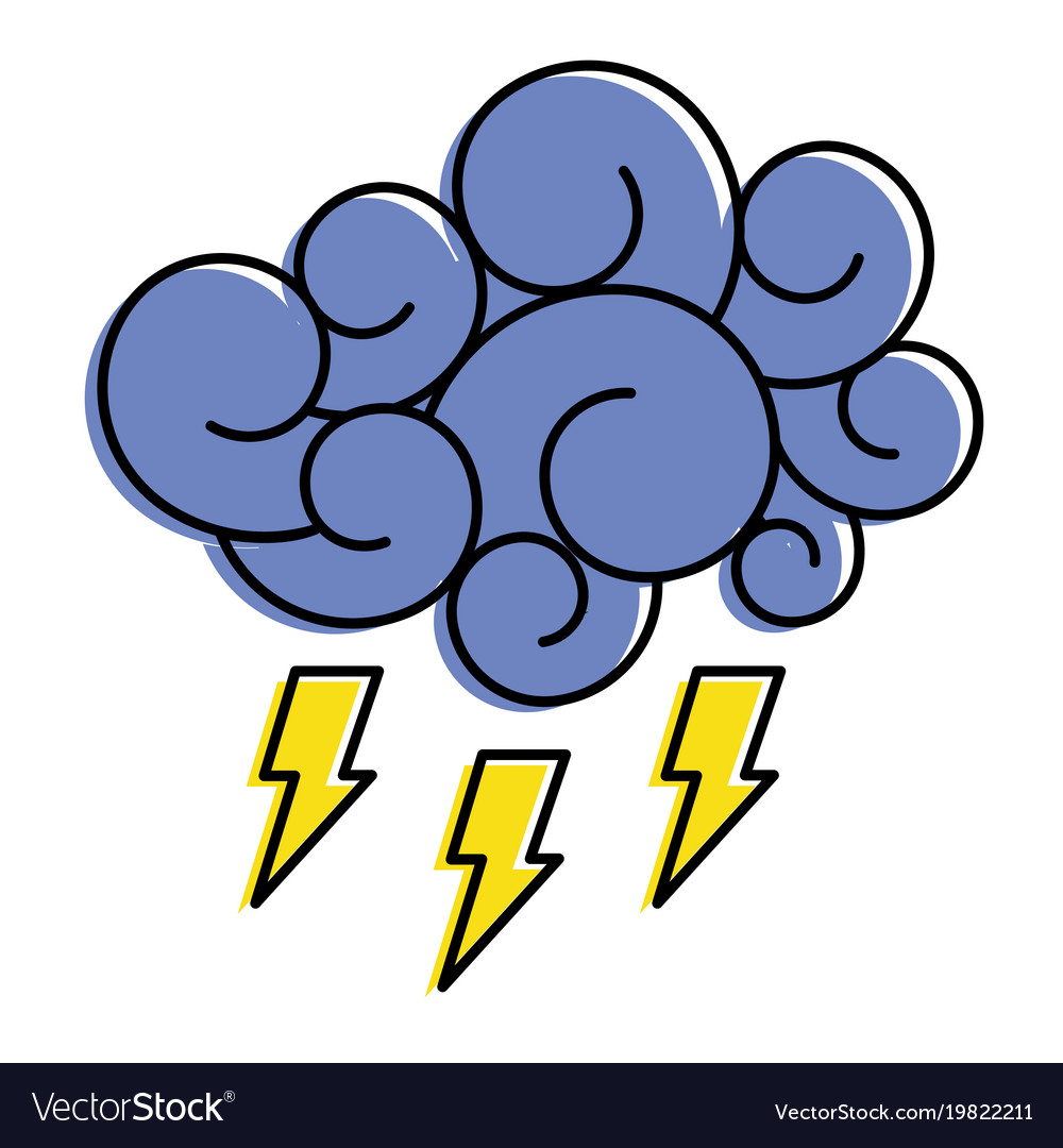 Retro cartoon storm cloud stock vector. Illustration of ...   Cartoon Storm