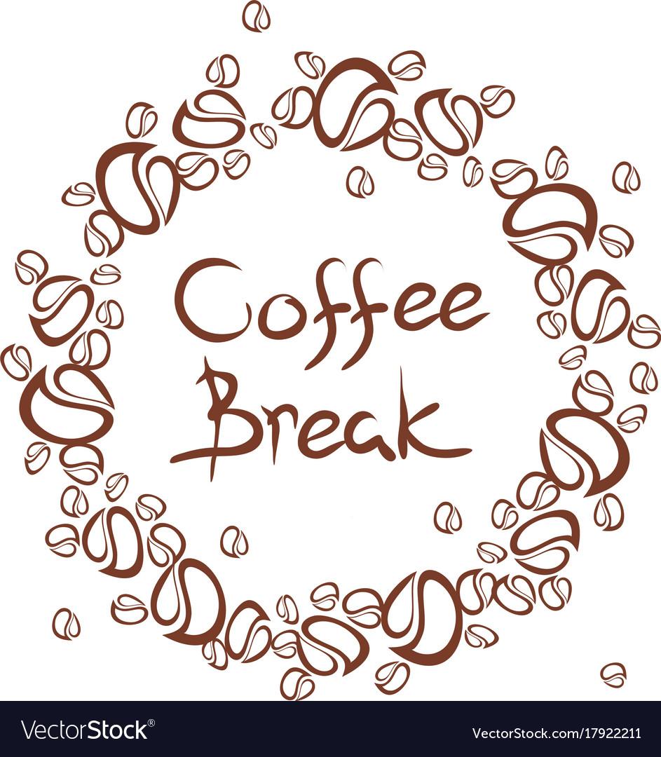 Coffee break frame Royalty Free Vector Image - VectorStock