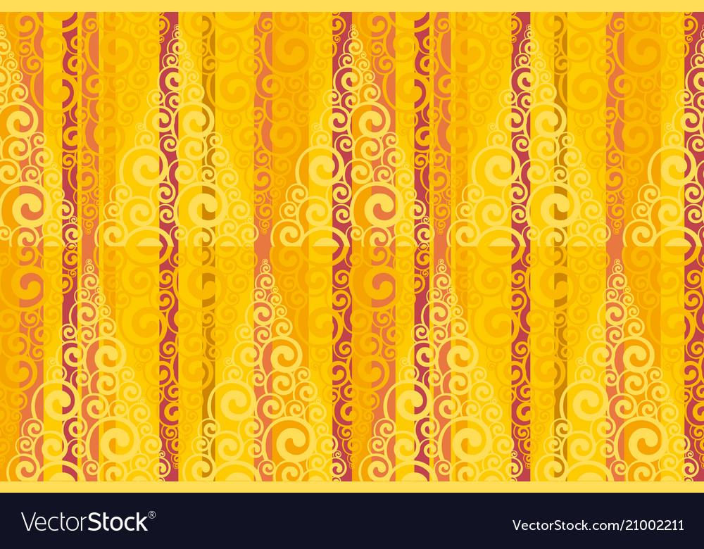 Complicated swirl and stripes pattern vector image