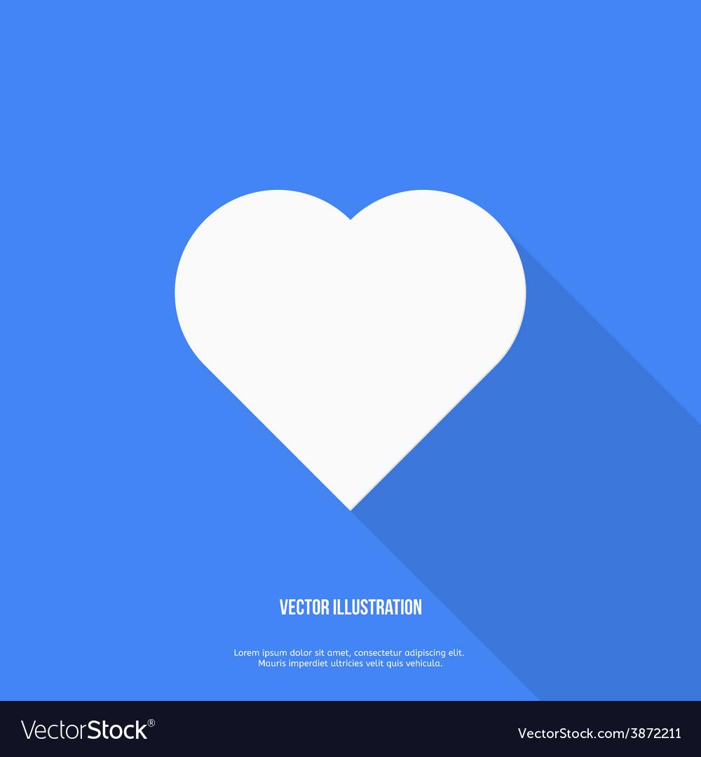 Heart web icon Flat design