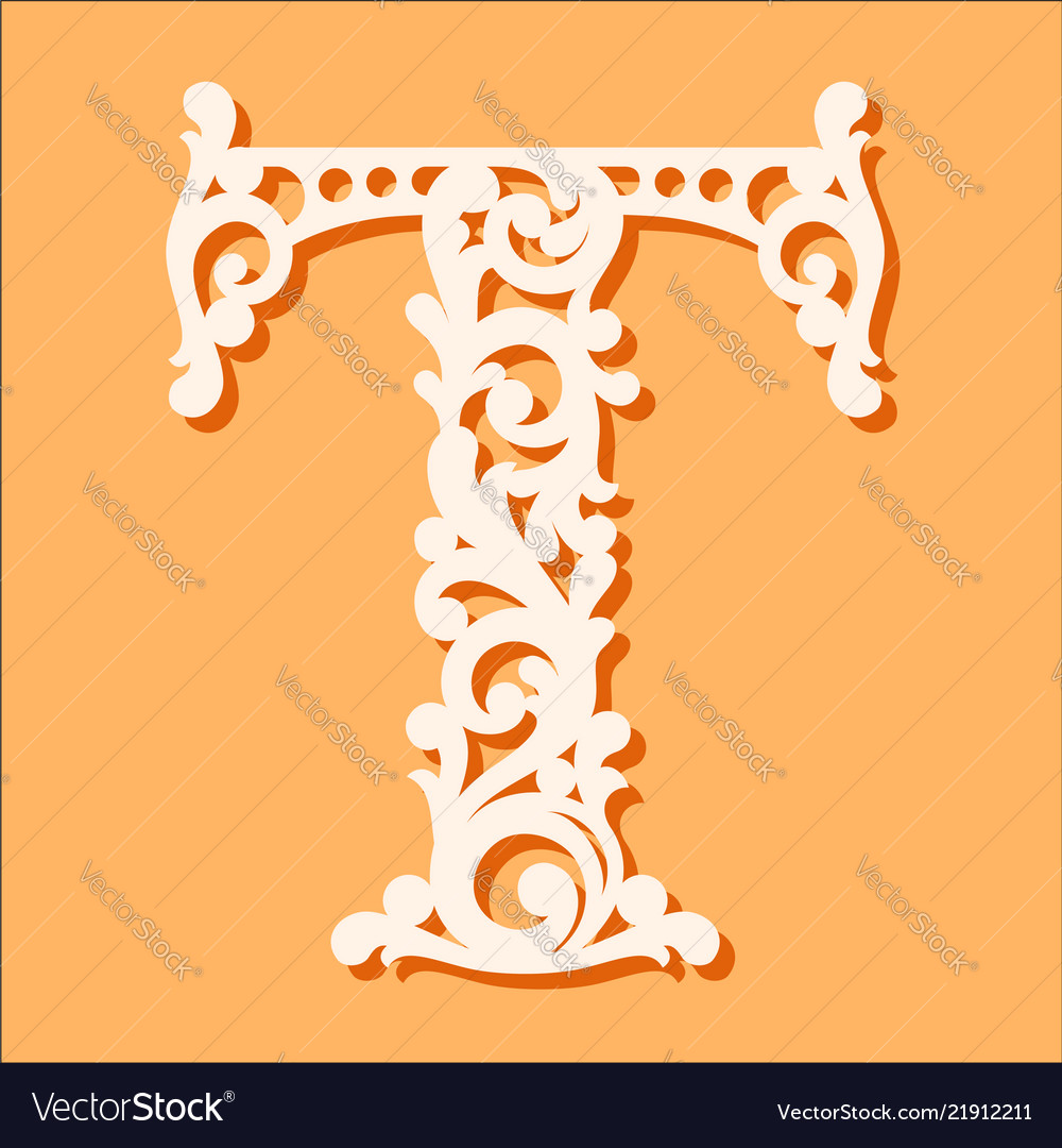Laser cut template initial monogram letters