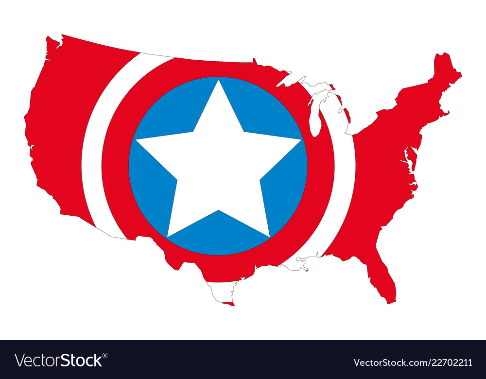 Map silhouette of the united states of america