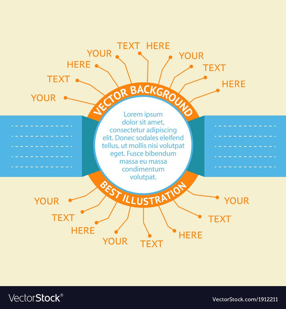 Orange Infographic badges vector image