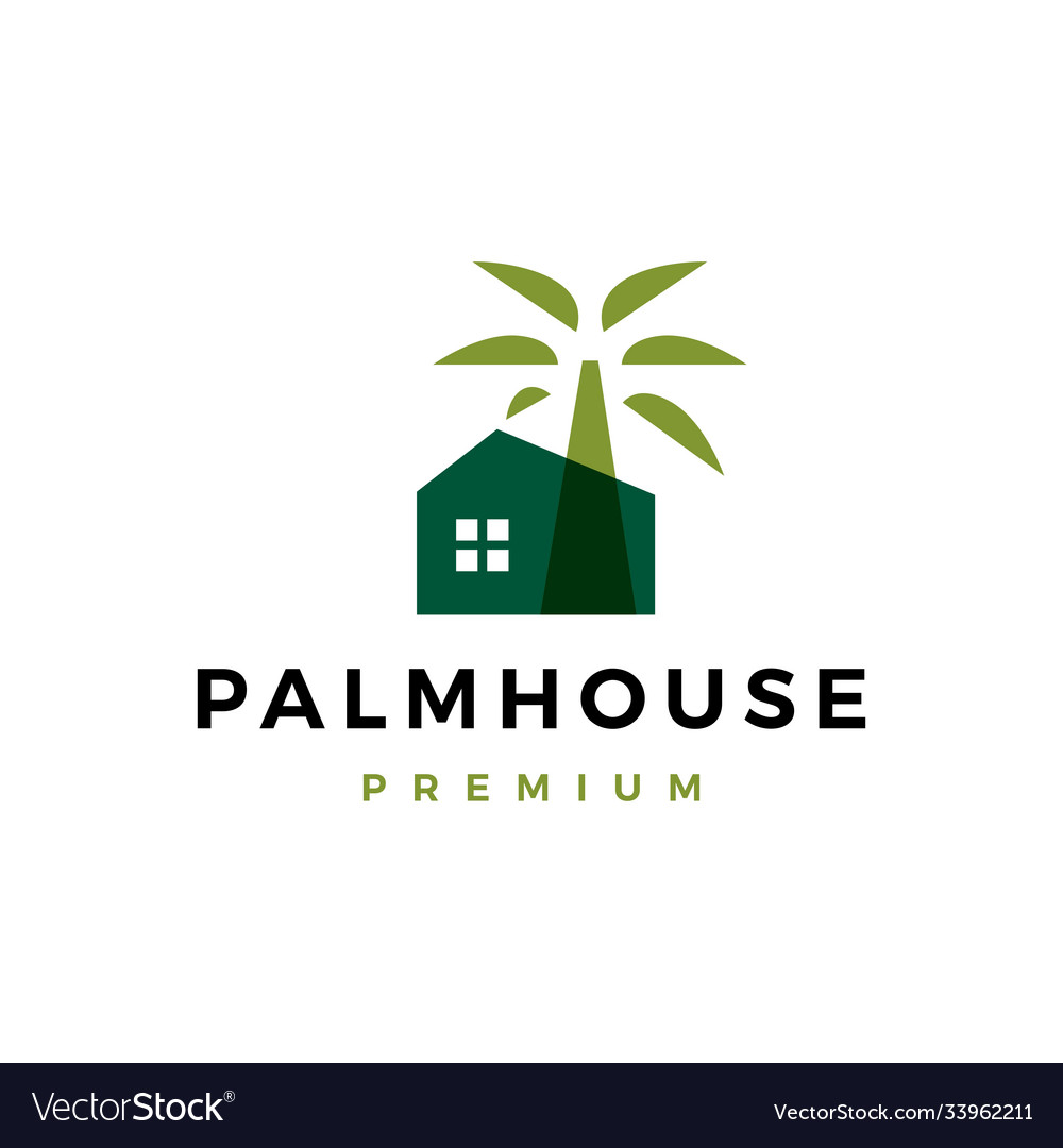 Palm house logo icon