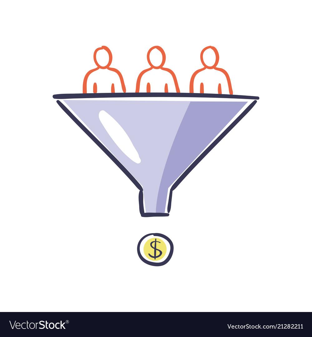 Visitors enter the sales funnel internet