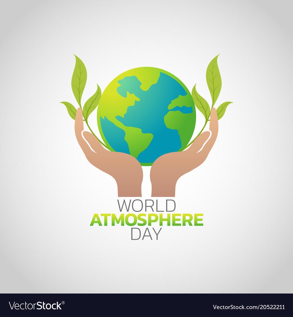 World atmosphere day logo icon design