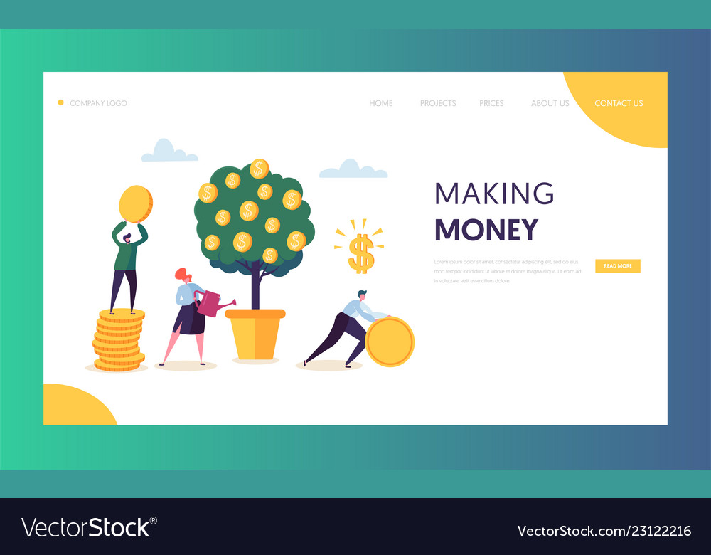 Business financial growth capital website template