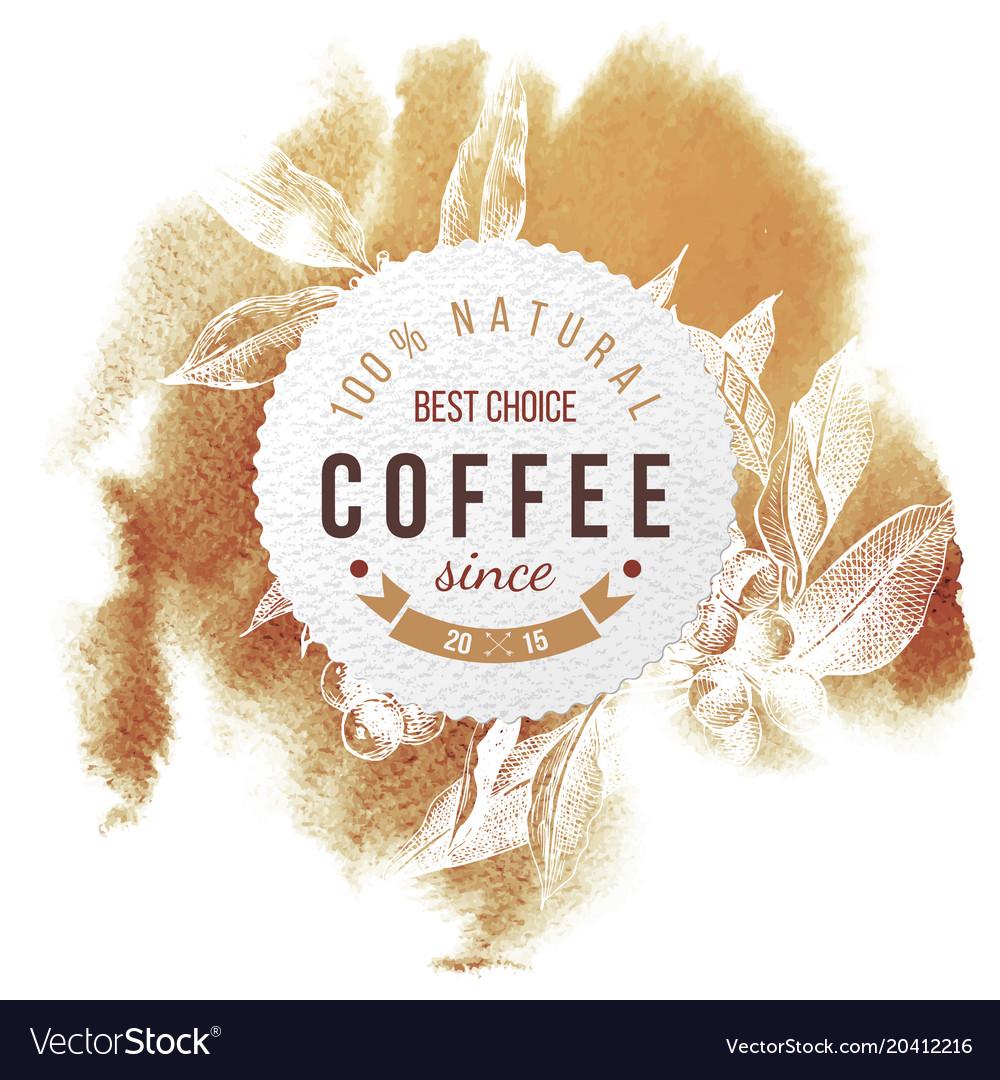 Coffee paper emblem vector image