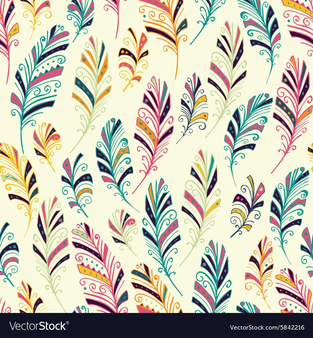 Dream catcher seamless pattern vector image