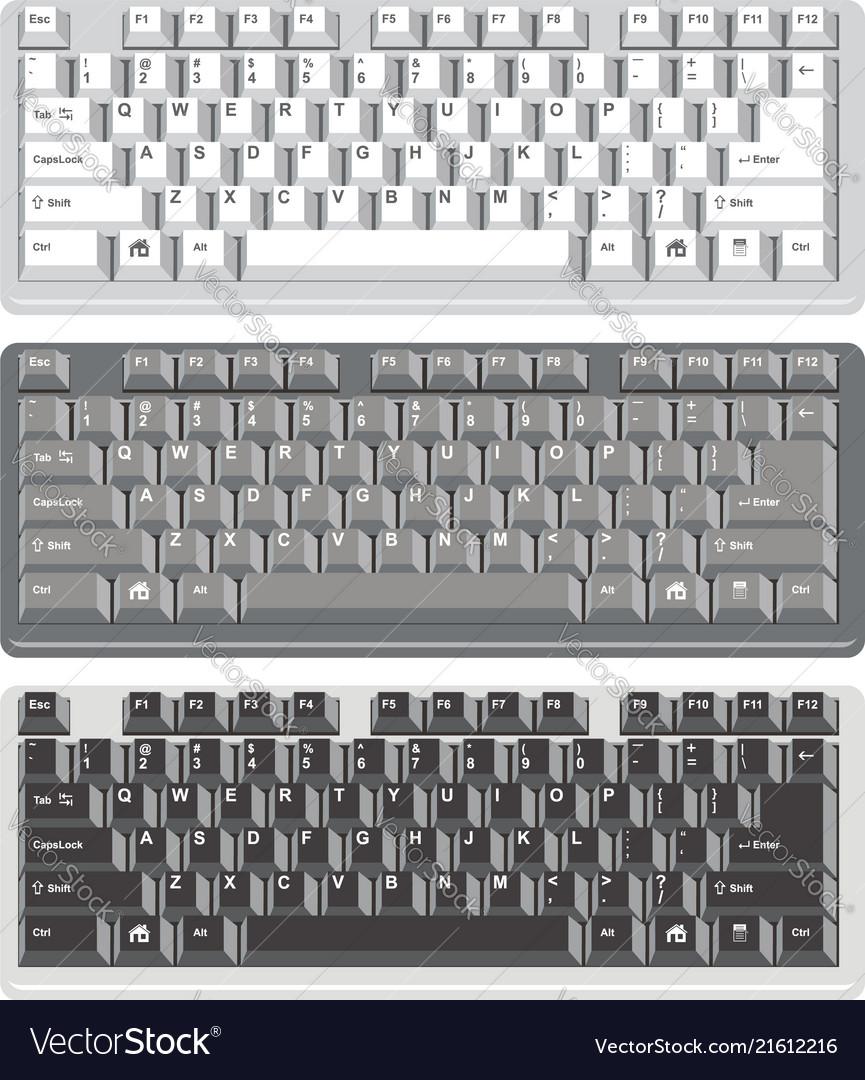 Flat design of computer keyboards