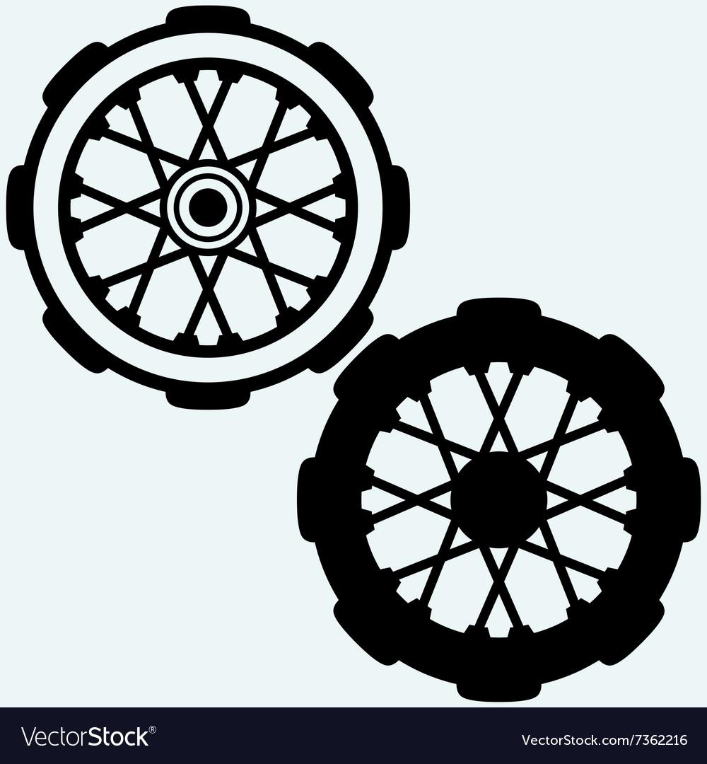 Old wheel motorcycle
