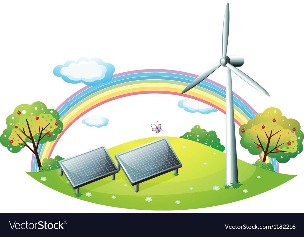 Renewable Energy Background vector image