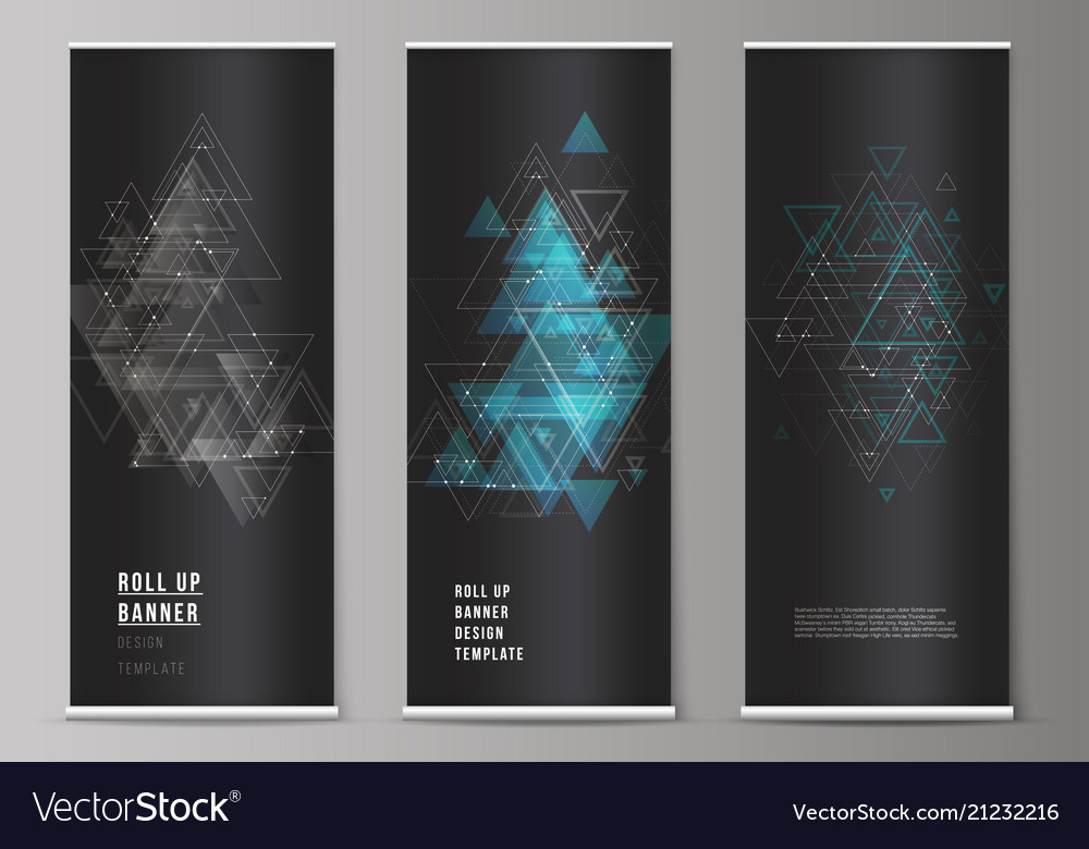 The editable layout of roll up banner
